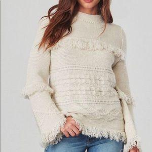 BB Dakota Sweaters - BB DAKOTA Fringed Sweater